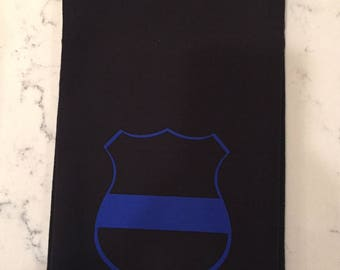 Police law enforcement support kitchen towel