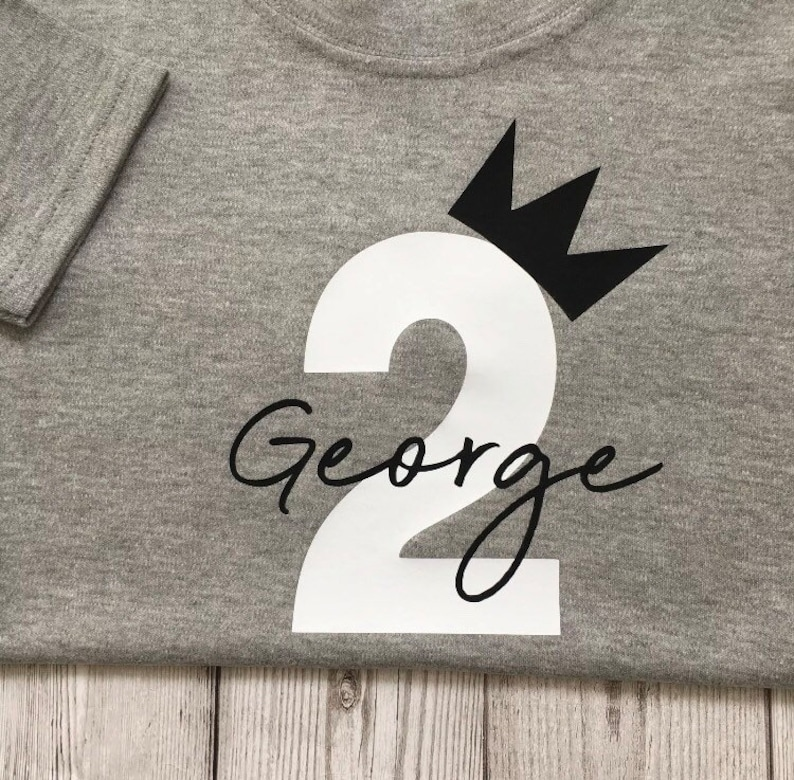 baby boys tshirt top Second outfit 2nd personalised birthday tee