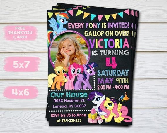 My Little Pony Invitation Invite Birthday Party Printable Card