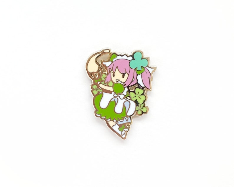 PREORDER Floral Magical Girl Enamel Pin