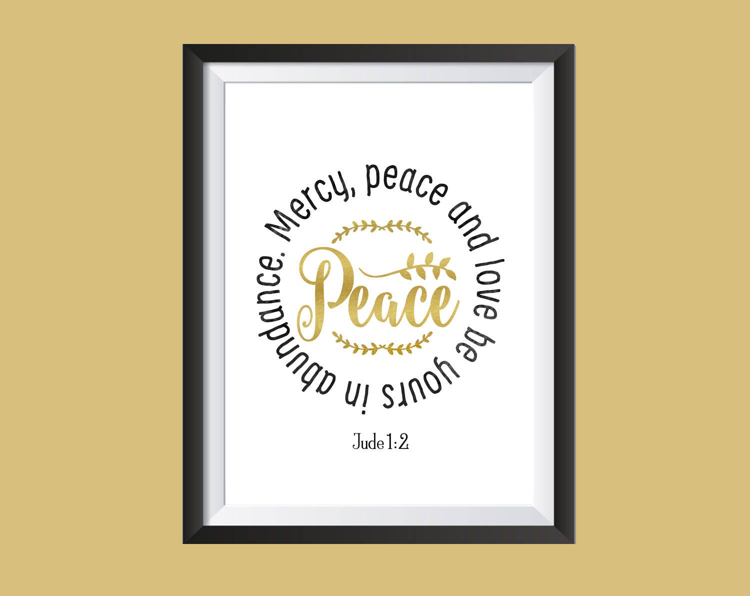 Jude 1:2 Instant Download Wall Art Printable Peace Bible