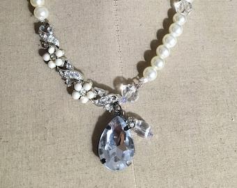 Penelope Pearl Necklace: vintage parts!