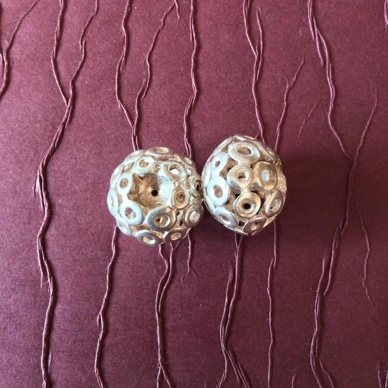 Silver Circles Beads