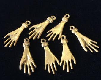 Brass Indian Hand Good Luck Charms