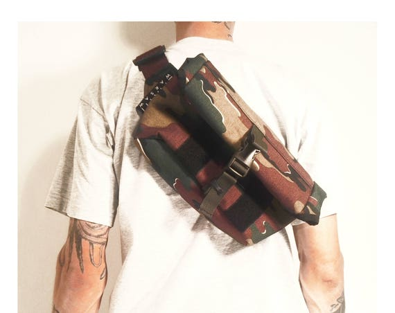 Roll Top Messenger Bag // Camo Cordura® 1000d