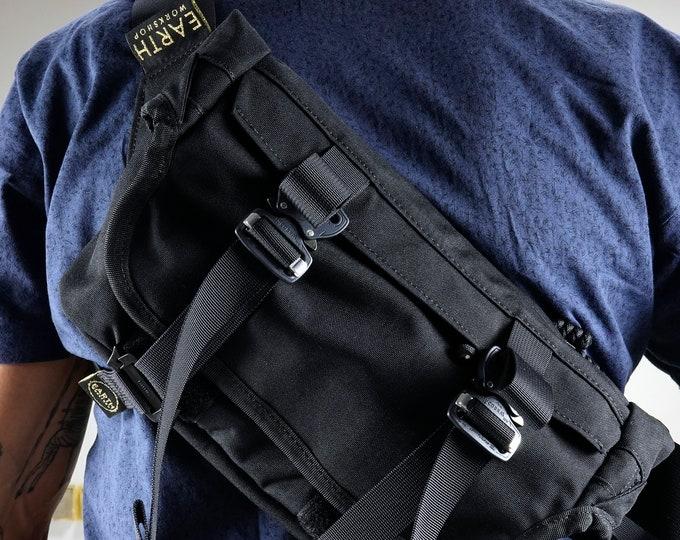 EVERYDAY BAG 2.1 + MOD , Roll Top Messenger Bag with AustriAlpin Cobra® Buckles / Techwear SlingBag Travel Bag / Custom Colors Cordura® 500D