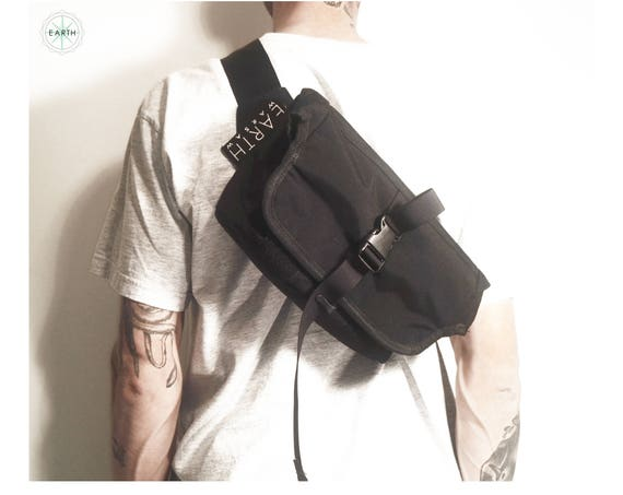 Roll Top Messenger Bag // Black Cordura® 500D