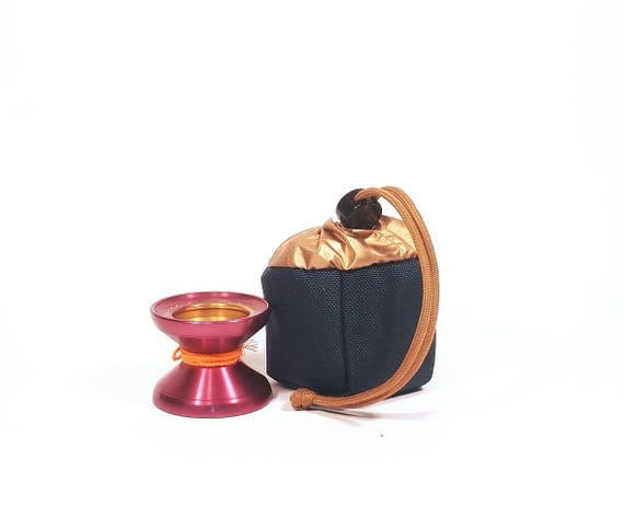 Yo-Yo pouch - 'Cube' // Navy blue & Gold