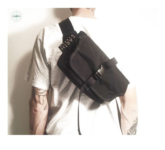 Roll Top Messenger Bag // Black Cordura® 500D