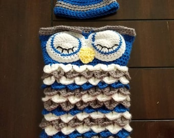 Baby Owl Cocoon Bunting
