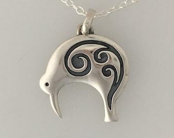Silver Kiwi Pendant