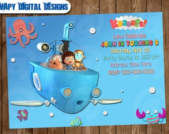 Kazoops! Digital Party invitation customize invite birthday thank you card
