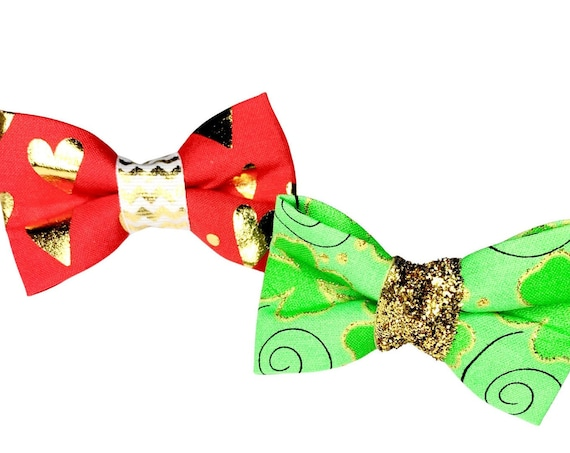 Valentine's & St Pattys Day Cat Bow Tie/ Dog Bow Tie