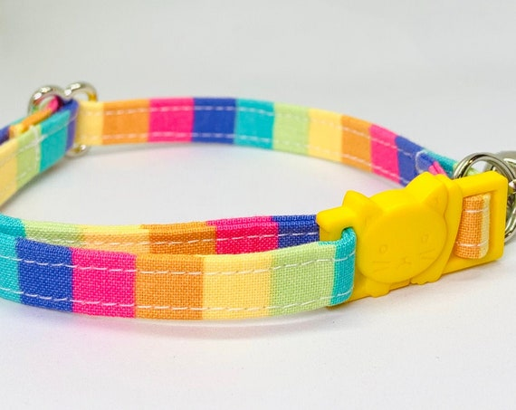Rainbow Breakaway Cat Collar