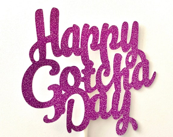 Gotcha Day Dog Cake Toppers /Pit Bull Cake Toppers