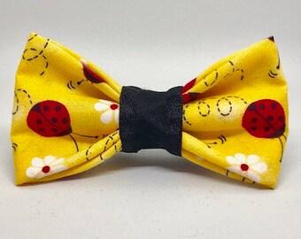 Lady Bug Cat Bow Tie
