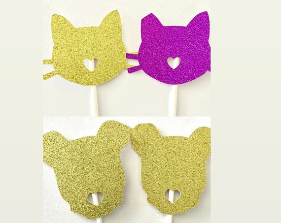 Pet Birthday Cupcake Toppers