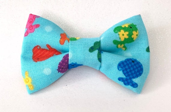 Rainbow Goldfish Cat Bow Tie