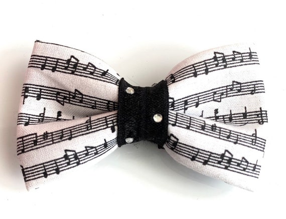 Music Notes Pet Bow Tie
