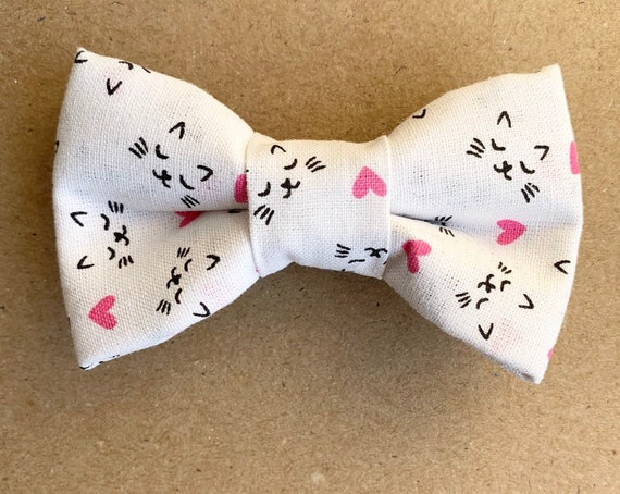 Valentine Cats Pet Bow Tie