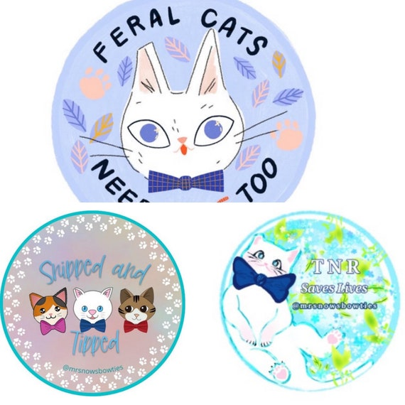 Mr. Snow Feral Cats Vinyl Stickers