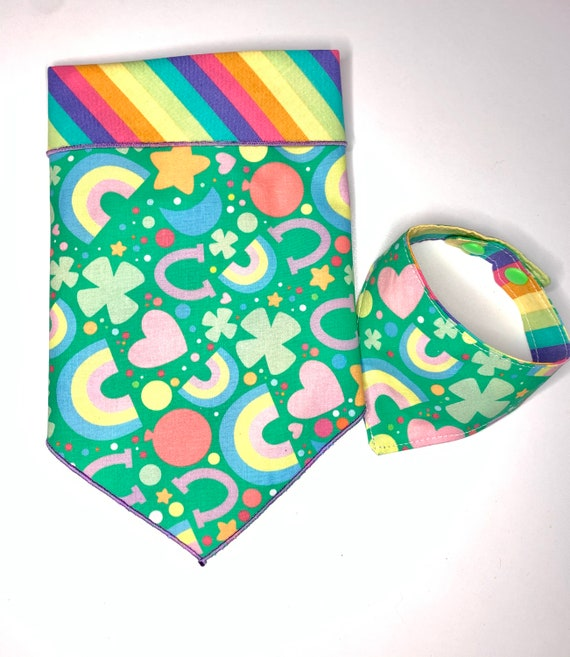 St. Patty's Rainbows Pet Bandana