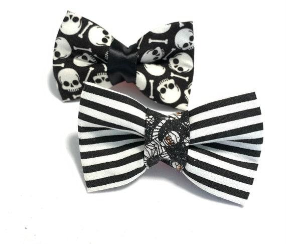 Skulls and Mummy Cat Bow Tie/ Dog Bow Tie