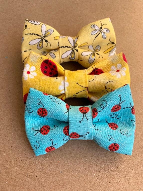 Lady Bugs Pet Bow Tie
