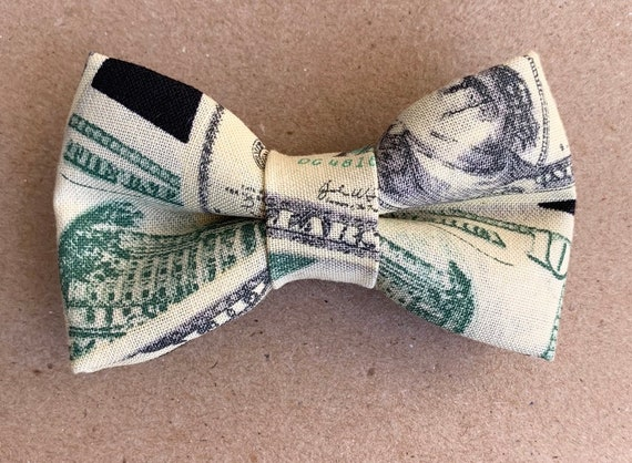 Dollar Bills Pet Bow Tie