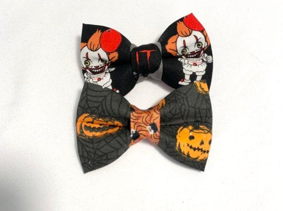 Halloween Clown and Pumpkin Cat Bow Tie/ Dog Bow Tie