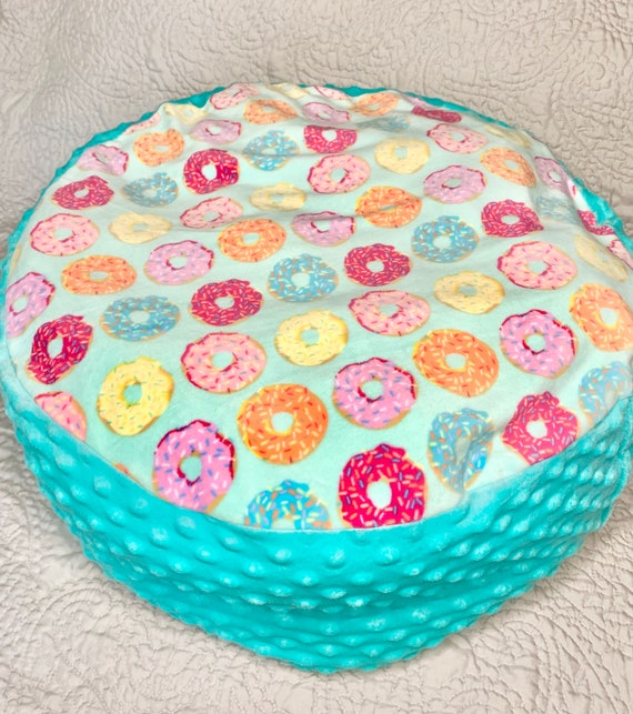 Donut Marshmallow  Round Plush Bed for cats/ small dogs
