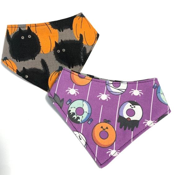 Donuts and Pumpkins Cat Bandana