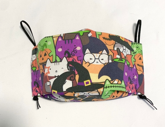 Witchy Cats 3DFace Mask