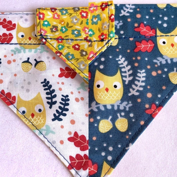 Spring Owls & Flowers Dog/Cat Bandanas