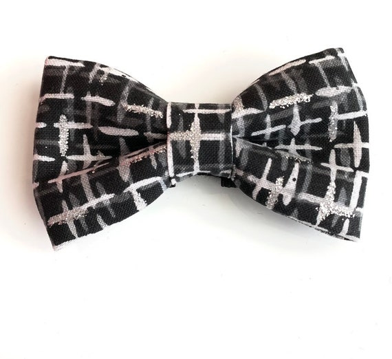 Sparkly Plaid Pet Bow Tie