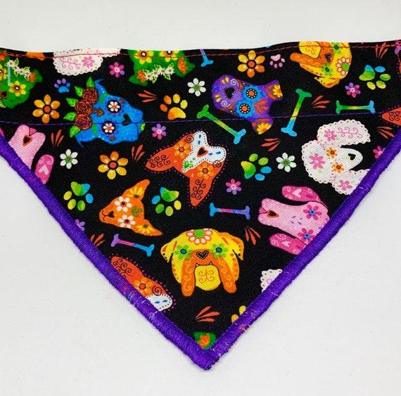 Dia de los Muertos Colorful Dog and Cat Bandana