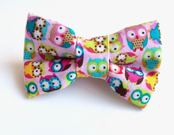 Cute Owls Pet Bow Tie