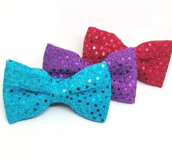 Sequin Glitter Pet Bow Tie