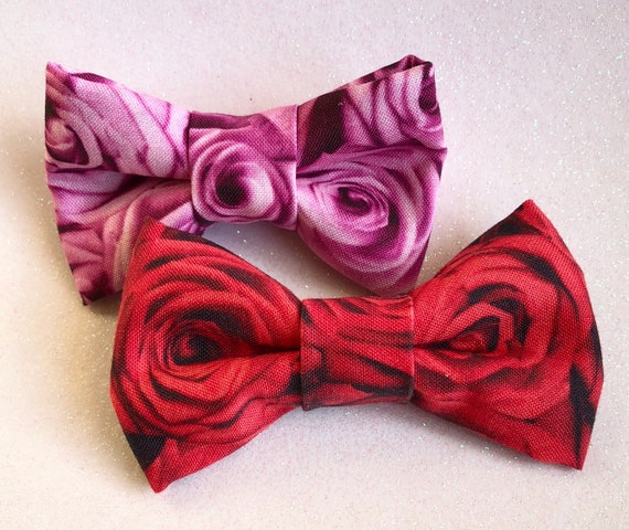 I'm Feeling Rosey Pet Bow Tie
