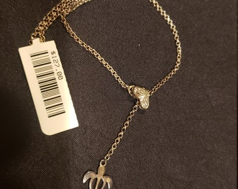 Super Rare Clip Anklet Free Gift with Every Purchase! Sterling Silver Heart Clip /& Sea Turtle Shipping Included