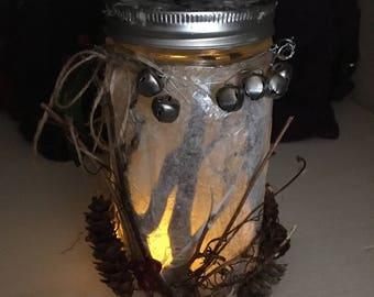 Holiday Lantern - Rustic Winter Woodland