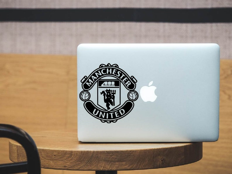 Manchester United FC Vinyl Decal | Old Trafford | Red Devils | Premiuer  League | FIFA | Soccer Decal | Car Decal | Laptop Decal