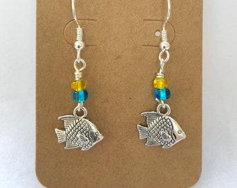 Little Silver Fish Earrings