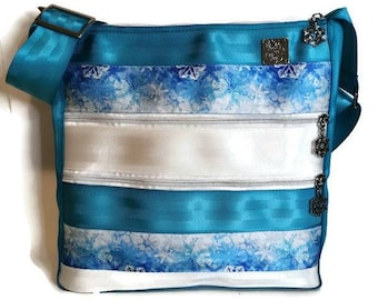 Seatbelt bag, crossbody bag for women, best friend birthday gift for her, eco friendly bag, holiday gift for mom from daughter, popular