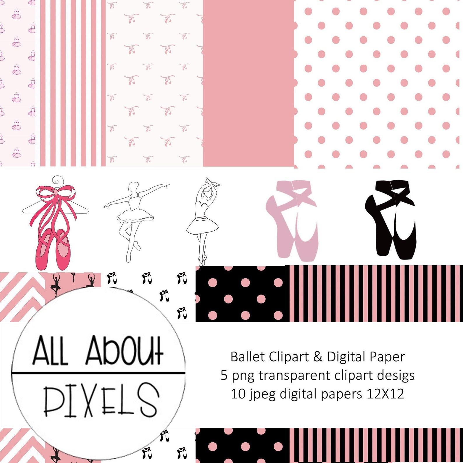 ballet clip art ballet digital paper