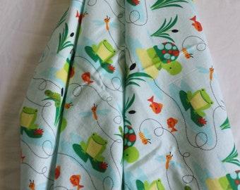 Frog flannel baby blanket