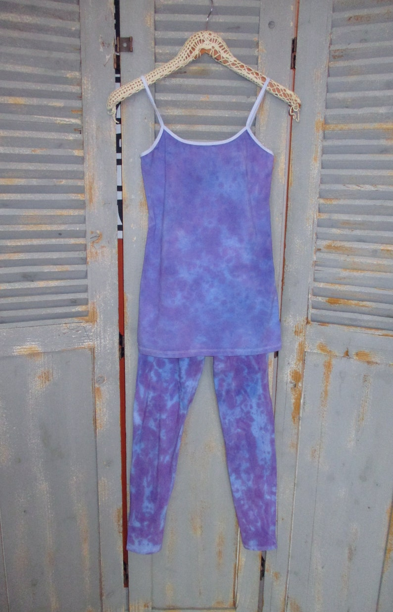 Distressed Lavender Leggings with Matching Cami