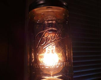 Ball Mason Jar Pendant Light