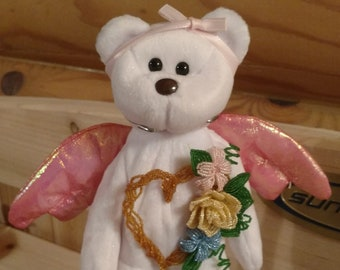 151ff2b8909 Hand beaded decorated beanie baby halo bear