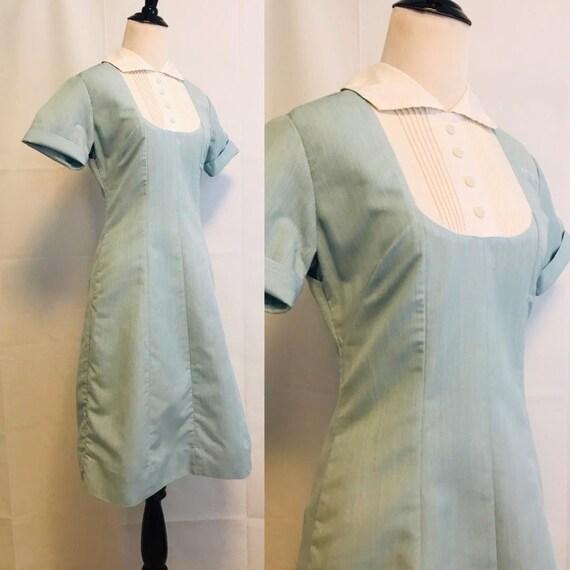 Vintage Nurses Dress, 1950s Nurse Dress Uniform Bl